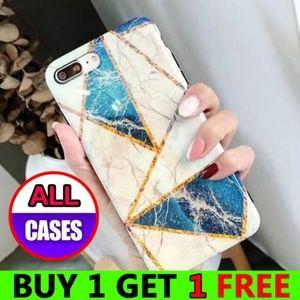 *NEW iPhone X/XS Glossy Geometric Marble Case